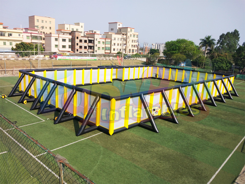 Huge inflatable football field paintball mobile arena inflatable paintball bunkers equipment