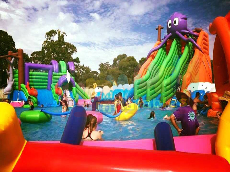 2019 new kids fun Worlds Largest Inflatable Water Slide inflatable water park for sale australia