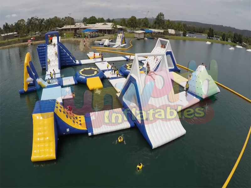 Hot aqua park slides floating water park inflatable water attraction