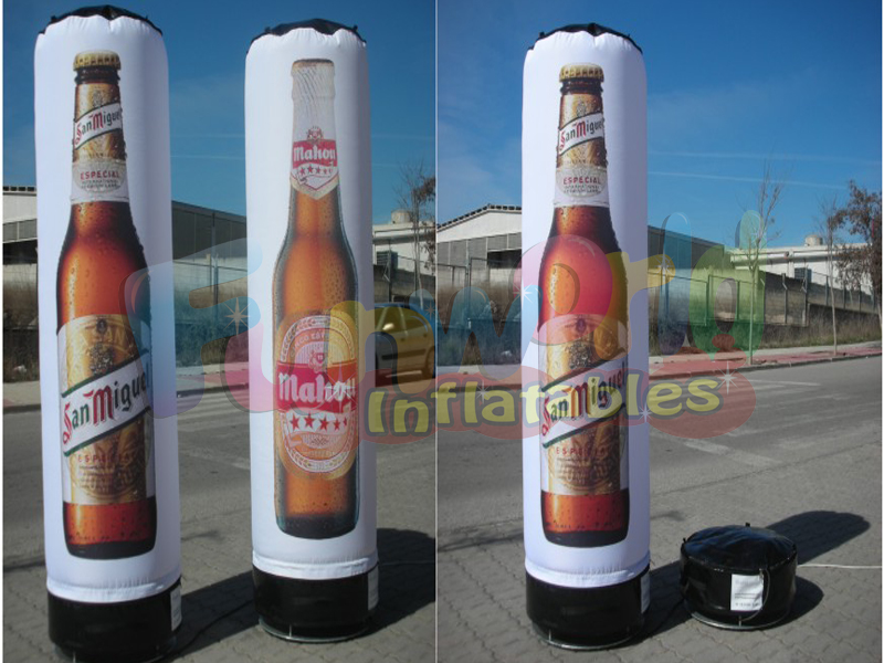 China giant inflatable Cilindres advertising pillar inflatabele for sale