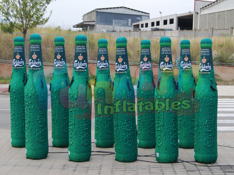 Hot illuminated inflatable column air balloon advertising inflatable bottle