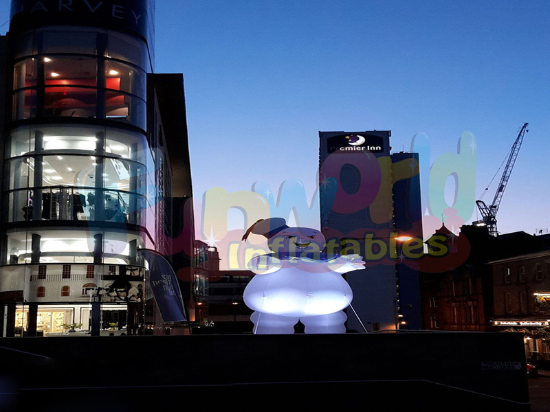 Giant advertisement LED lighting inflatable advertising balloons inflatable guy