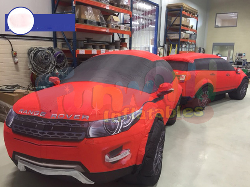 Adversting commercial decoration inflatable replicas inflatable range rover car