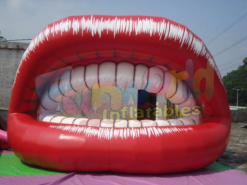 New design giant inflatable balloon display inflatable lip for adversting on sale