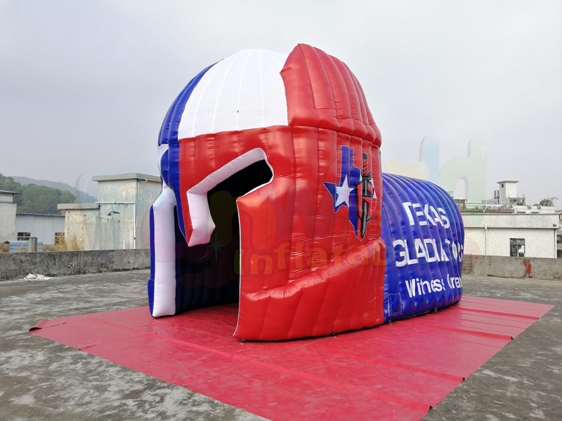 Giant inflatable football helmet tunnel Custom inflatable tunnel tents for sale