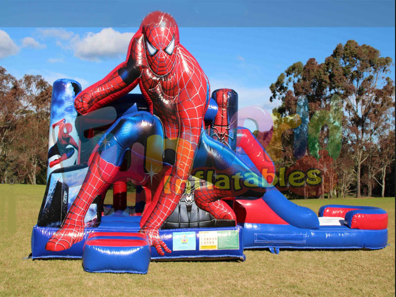 New inflatable jumping castle bounce house spiderman inflatable bounce house