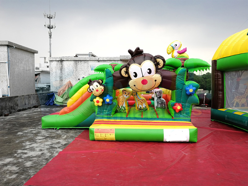 Outdoor inflatable monkey bouncer slide inflatable bouncer castle jumping house