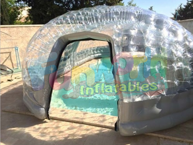 Giant transparent inflatable pool dome tent advertising inflatable sport tents on sale