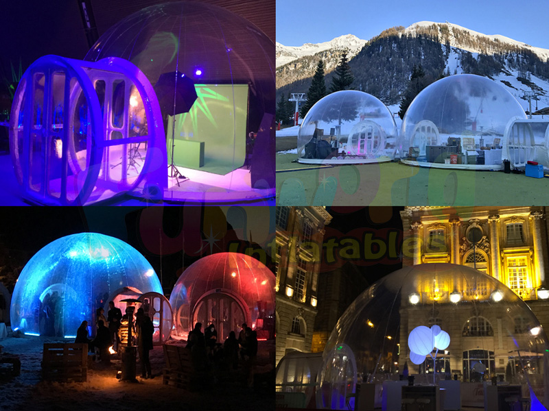 LED inflatable igloo tent inflatable clear bubble camping tent inflatables