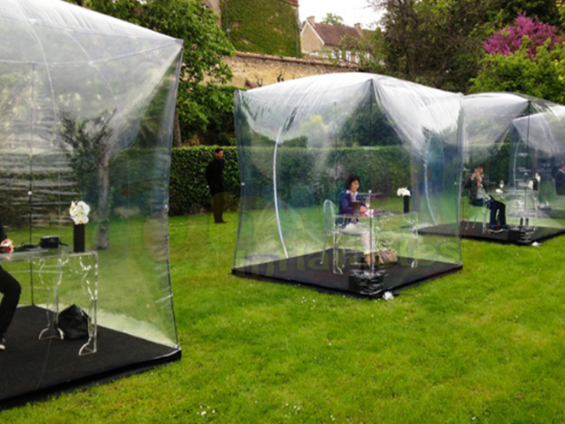 Clear bubble tent for sale transparent inflatable dome camping cube tent