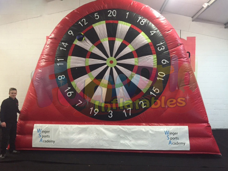 High quality nylon inflatable dartboard inflatable sports shoot foot darts board for sale