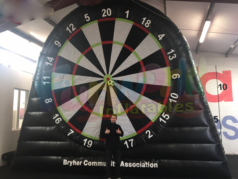 Giant inflatable dartboard football darts inflatable shoot out tunnels