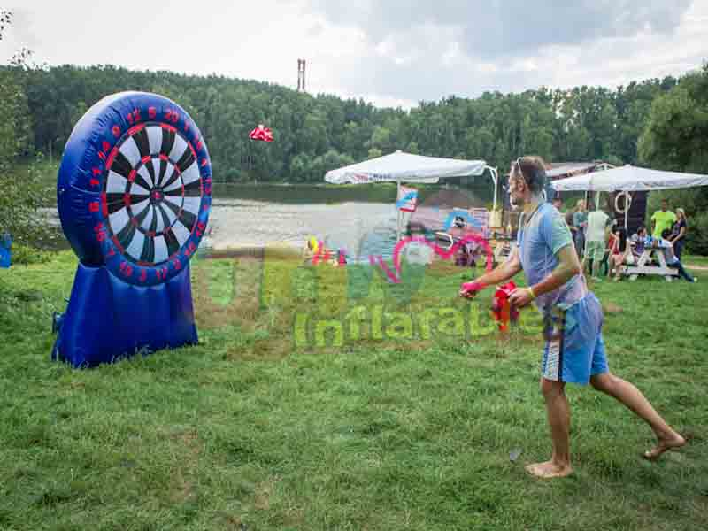 Hot sale inflatable soccer kick game footdarts inflatable darts for sale