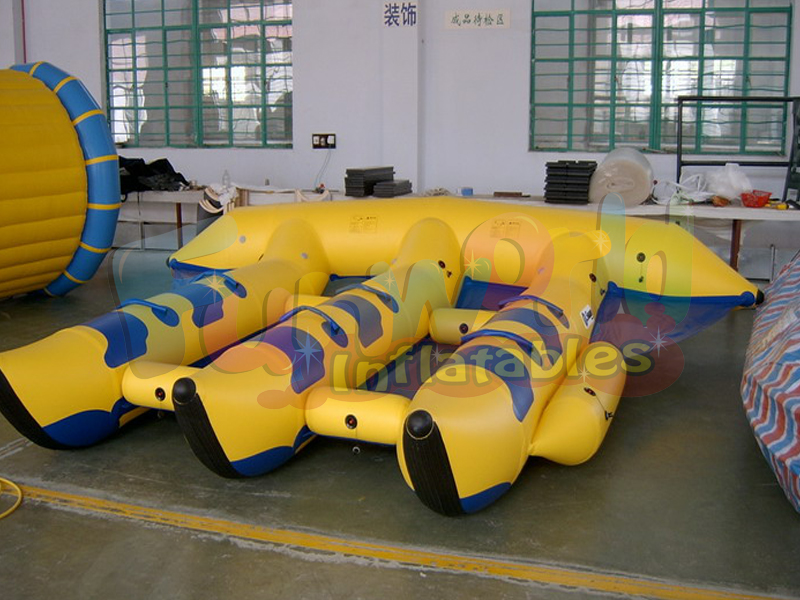 Amusing inflatable flyfish floating banana boat for sale inflatable water games flyfish banana boat