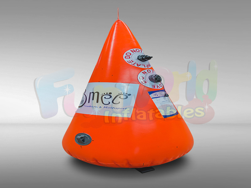 Custom floating marker buoy conical shape marker bouys inflatable life vest