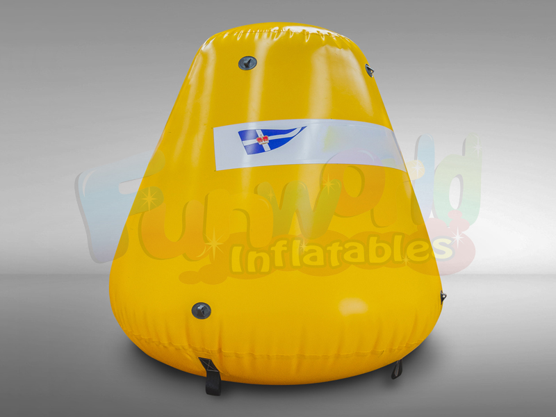 Factory inflatable swim navigation buoys for sale truncated circular base marker bouys