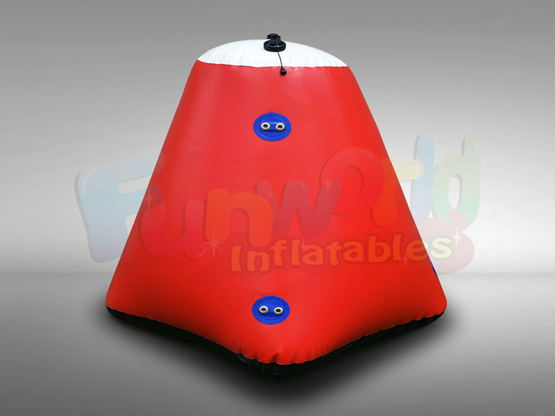 Customized truncated square base marker bouys inflatable swimming marker diving buoy for sale