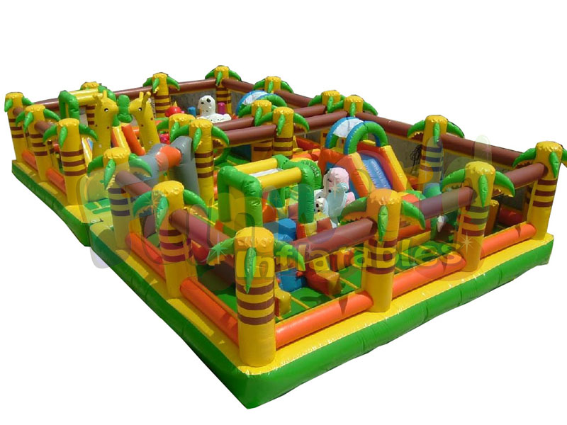 Giant inflatable obstacle course adult jumpers bouncers inflatable maze