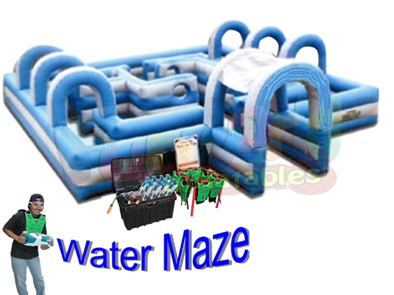 Adult inflatable labyrinth maze obstacle course inflatable water tag and maze