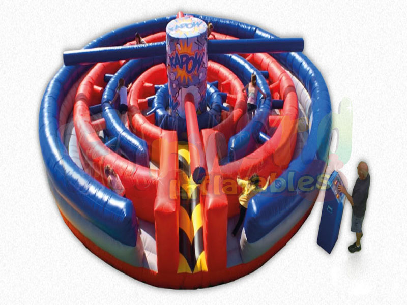 New design inflatable kapow maze haunted for sale inflatable sport game for fun