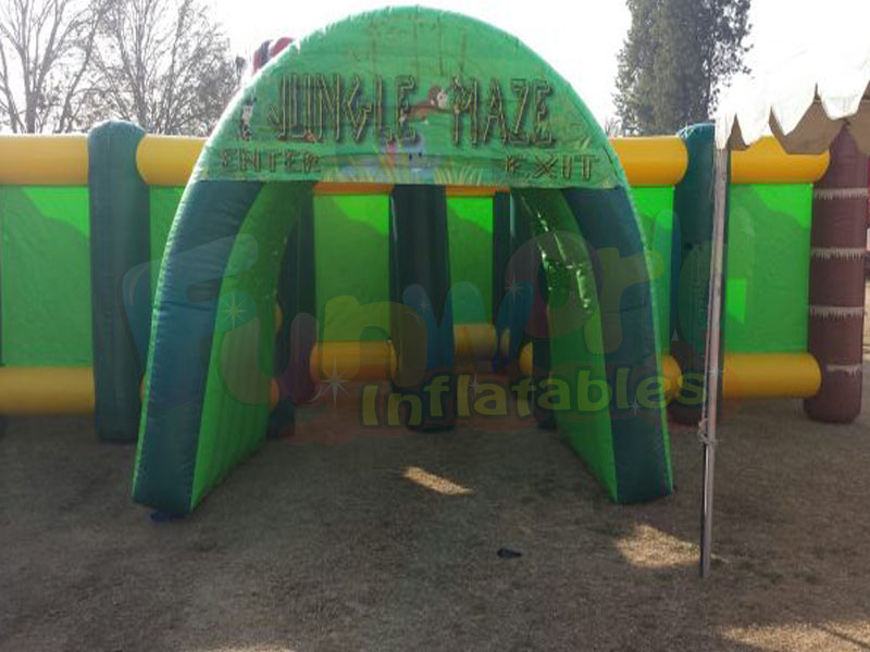 Hot sale inflatable haunted maze  inflatable sport game haunted house maze