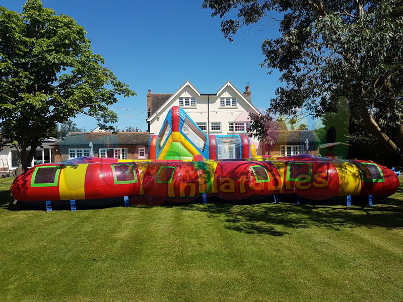 Giant haunted house inflatable maze inflatable bouncer combo with slide