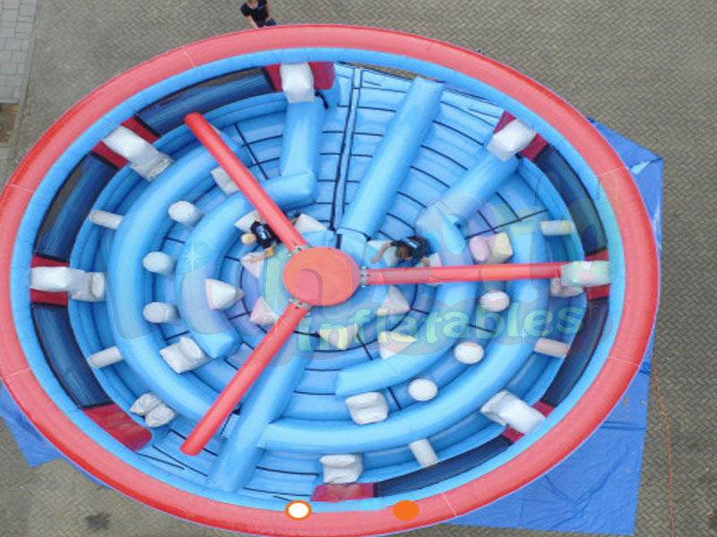 Custom inflatable spinning wheel maze inflatable park attraction for sale