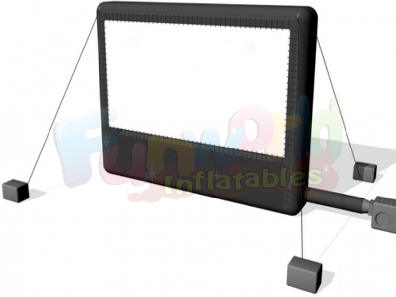 Wholesale mega movie screen for party inflatable frame projection inflatable screen