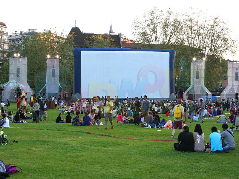 Custom outside projector inflatable cinema outdoor theater system