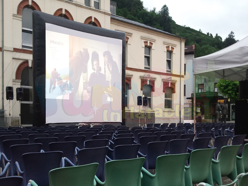 Outside projector screen inflatable outdoor theater screen for party