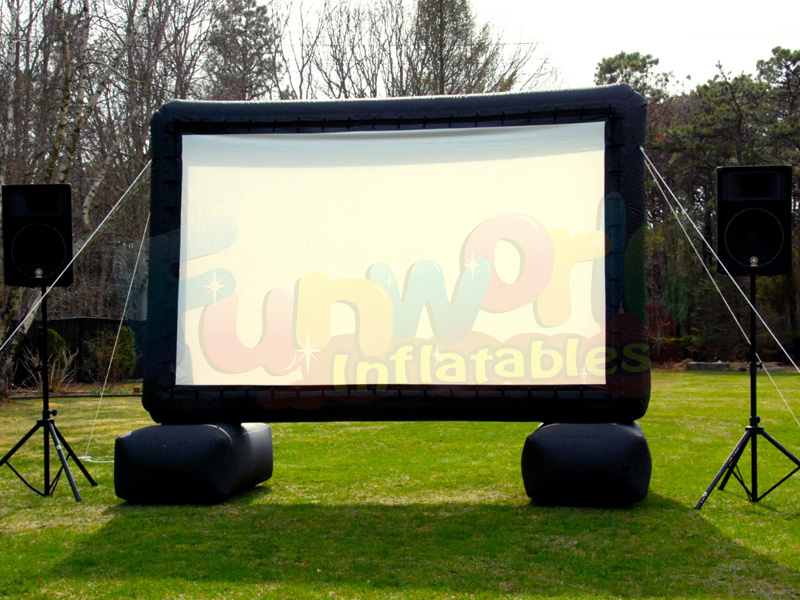 Wholesale outdoor movie projector air screen inflatable cinema screen for sale