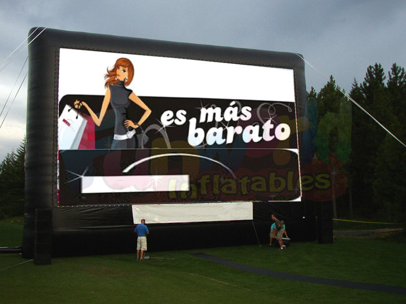 Outdoor projector and screen inflatable movie screen for inflatable advertising billboard