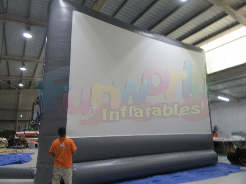 New inflatable advertising movie screen outdoor movie screen and projector