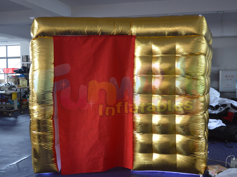 Customized portable used diy photo booth inflatable selfie photo booth