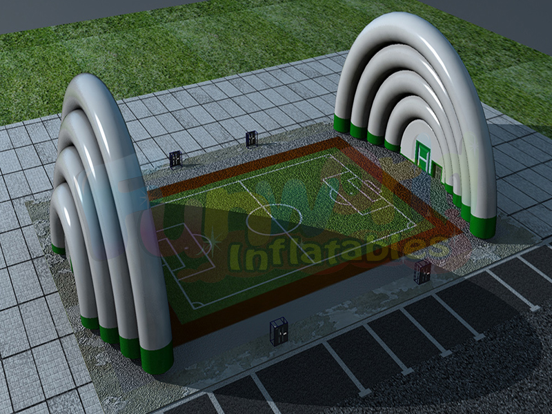 Hot inflatable hangars football soccer field inflatable football field dome pitch