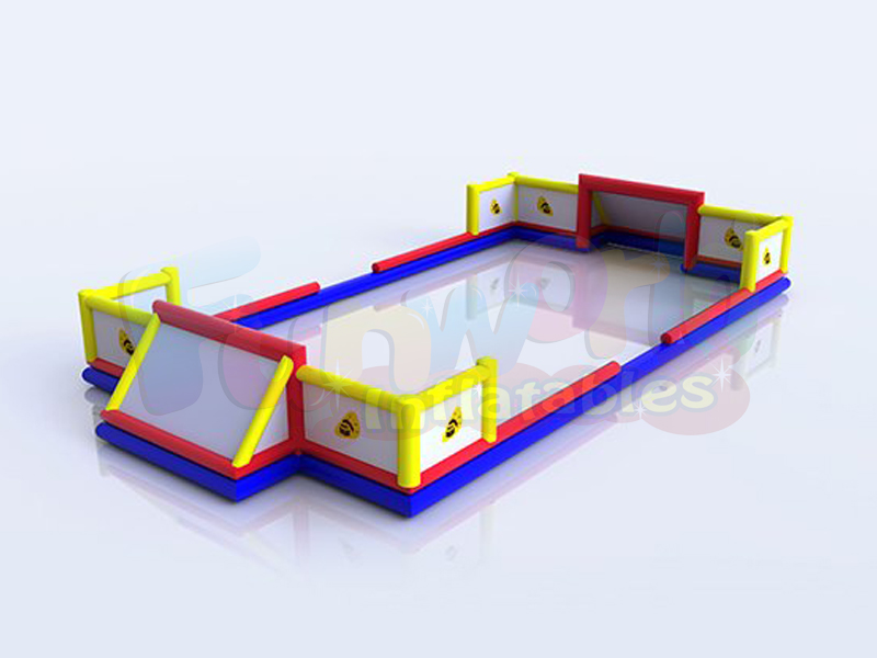 Giant inflatable 5 a side court football playground 5 a side inflatable soccer court
