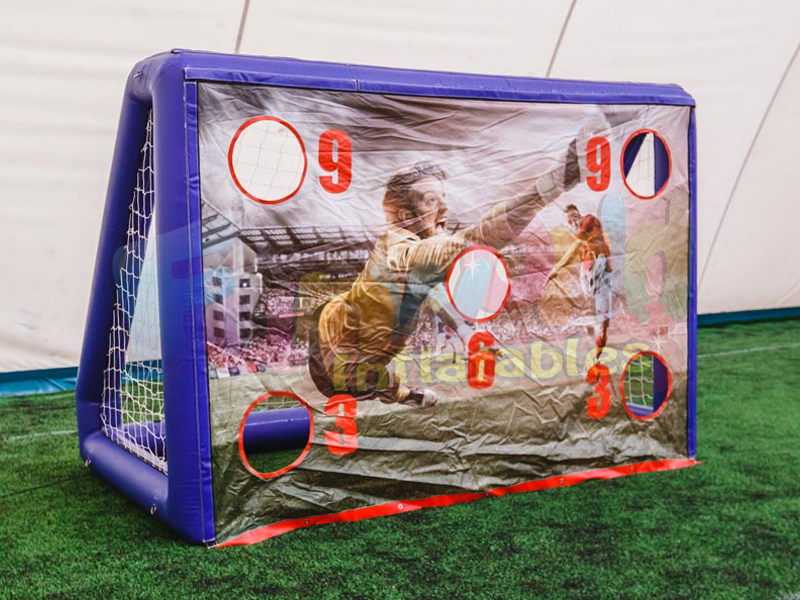 Outdoor inflatable football gates soccer goal for kids inflatable football roulette