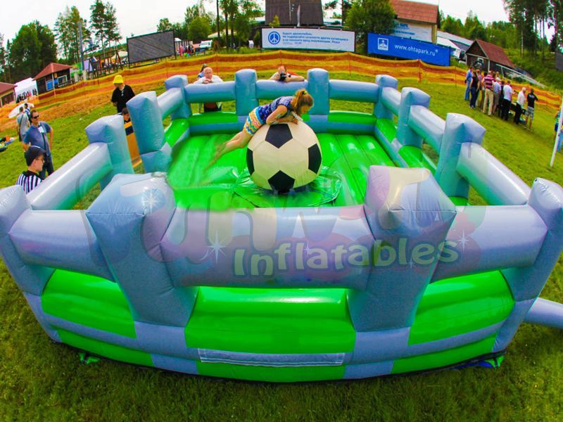 Human inflatable football riding toys mattress inflatable attraction rodeo football