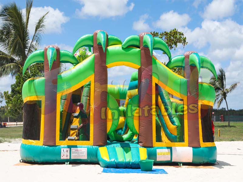 Commercial palm tree bouncy castle tropical bounce house inflatable palm tree bouncer