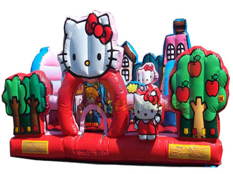 Kids inflatable combo inflatable bouncy castle hello kitty toddler bounce house