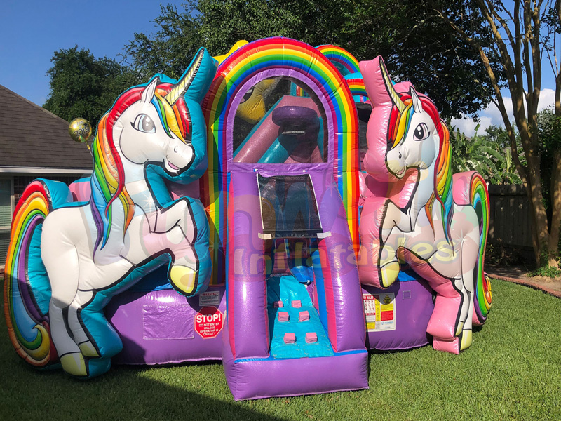 2019 bounce house party supplier unicorn air castle unicorn inflatable bouncer