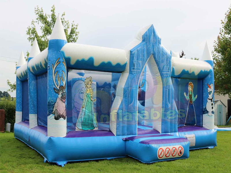 Ice princess inflatable playground commercial bounce house for kids
