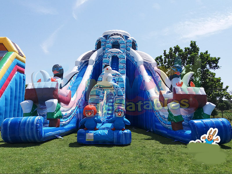 Kids adult jumpers bouncers cheap inflatable bouncers for sale penguin inflatable water slide