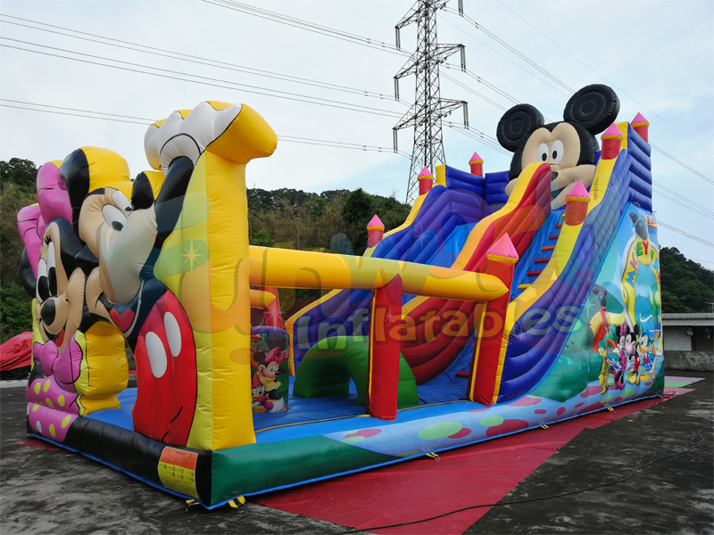 Kids inflatable playground mickey inflatable park mickey mouse bouncy slide