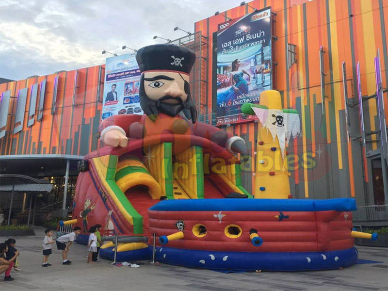 New kids jumping casstle giant inflatable slide for sale inflatable pirate ship
