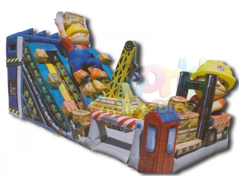 Commercial grade inflatable bouncers robot construction inflatable slide