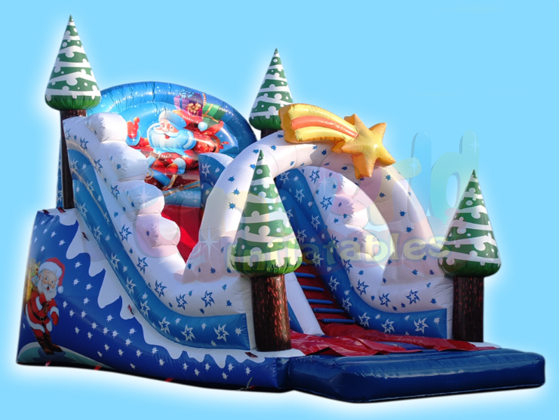 2019 New design christmas inflatable outdoors animation inflatable slide