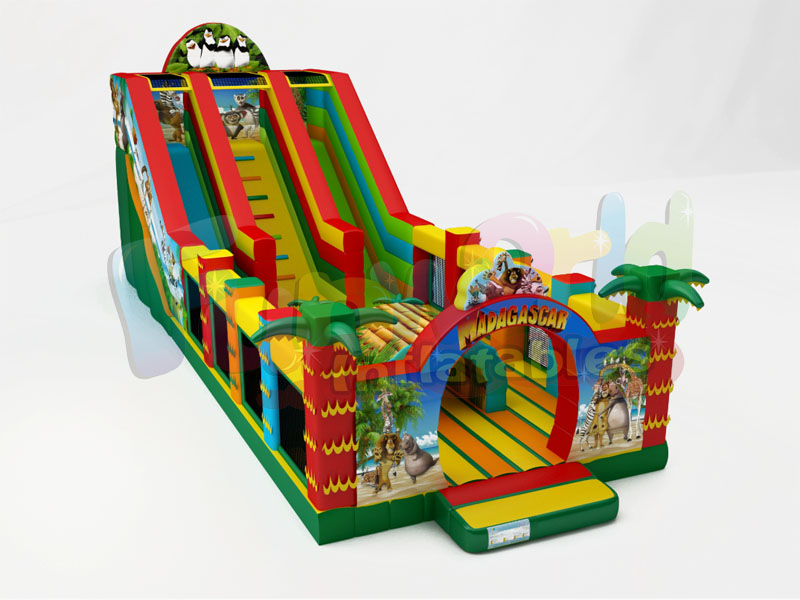 Hot inflatable jumping castle safari park bounce house giraffe inflatable slide