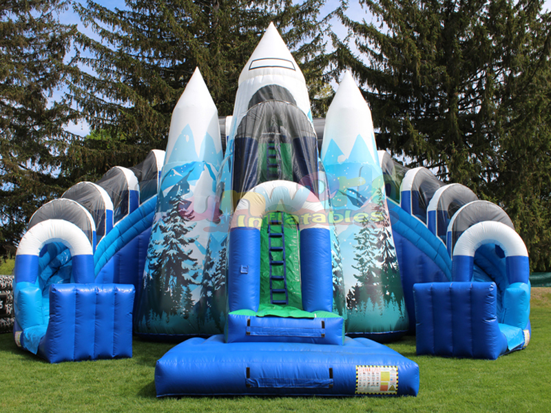 Fun party inflatable attractions inflatable slide playground combo games