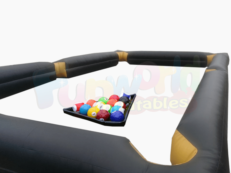 Giant inflatable foot pool human billiards inflatable snooker ball game
